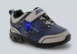 NEW-Marvel-Black-Panther-Light-Up-Shoes-Boy-039-s-11-Blue-Adjustable-Strap-Avengers