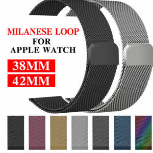 2a567e425ab Metal Steel Milanese Mesh Loop Magnetic iwatch Band for Apple Watch ...