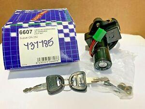 NOS-Suzuki-GS1000-GS850G-GSX750E-4-Wire-Ignition-Switch-Lockset-amp-2-Keys-6607