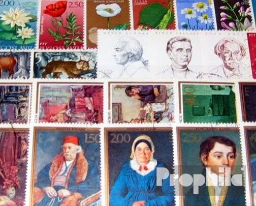 Yougoslavie 100 différents timbres