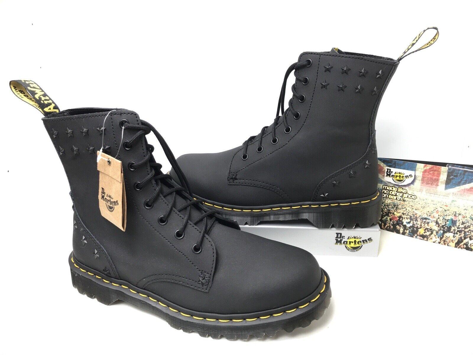 Dr. Martens 1460 Ben UK9 EU43 Black Ajax Leather Star Studded Men's Boots