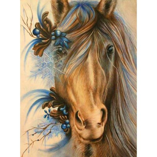5D DIY Full Drill Diamond Painting Horse Cross Stitch Kit Embroidery Decor Gifts