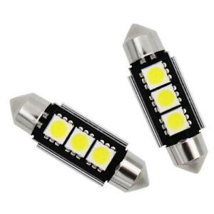 2-Ampoule-Navette-LED-C5W-36mm-ANTI-SANS-ERREUR-CANBUS-Plafonnier-Plaque