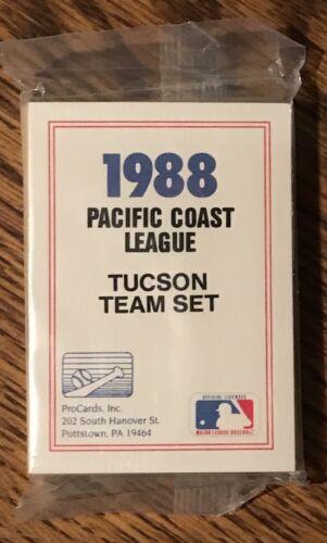 Tucson Toros 1988 Procards Minor League Baseball Sealed Team Set Craig Biggio RC
