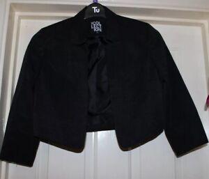Debenhams-Collection-Black-Cropped-Blazer-Jacket-Size-10