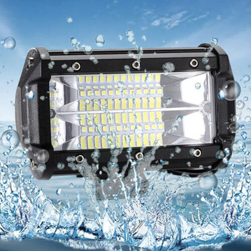 Car Truck 168W 5 inch LED Work Spot Lights Flood Driving Bright Bulb SUV 12V 24V