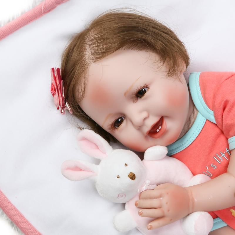 20  recién nacido realista Reborn Bebé niñas Niño Muñeca de juguete de vinilo suave silicona niños