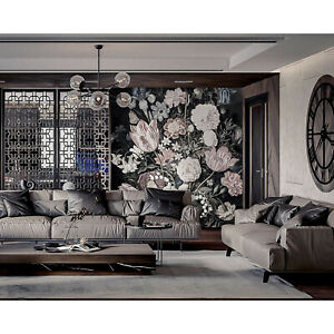 Details About Wall Mural Sticker Dutch Floral Dutch Nature Wall Art Decor Removable Wallpaper
