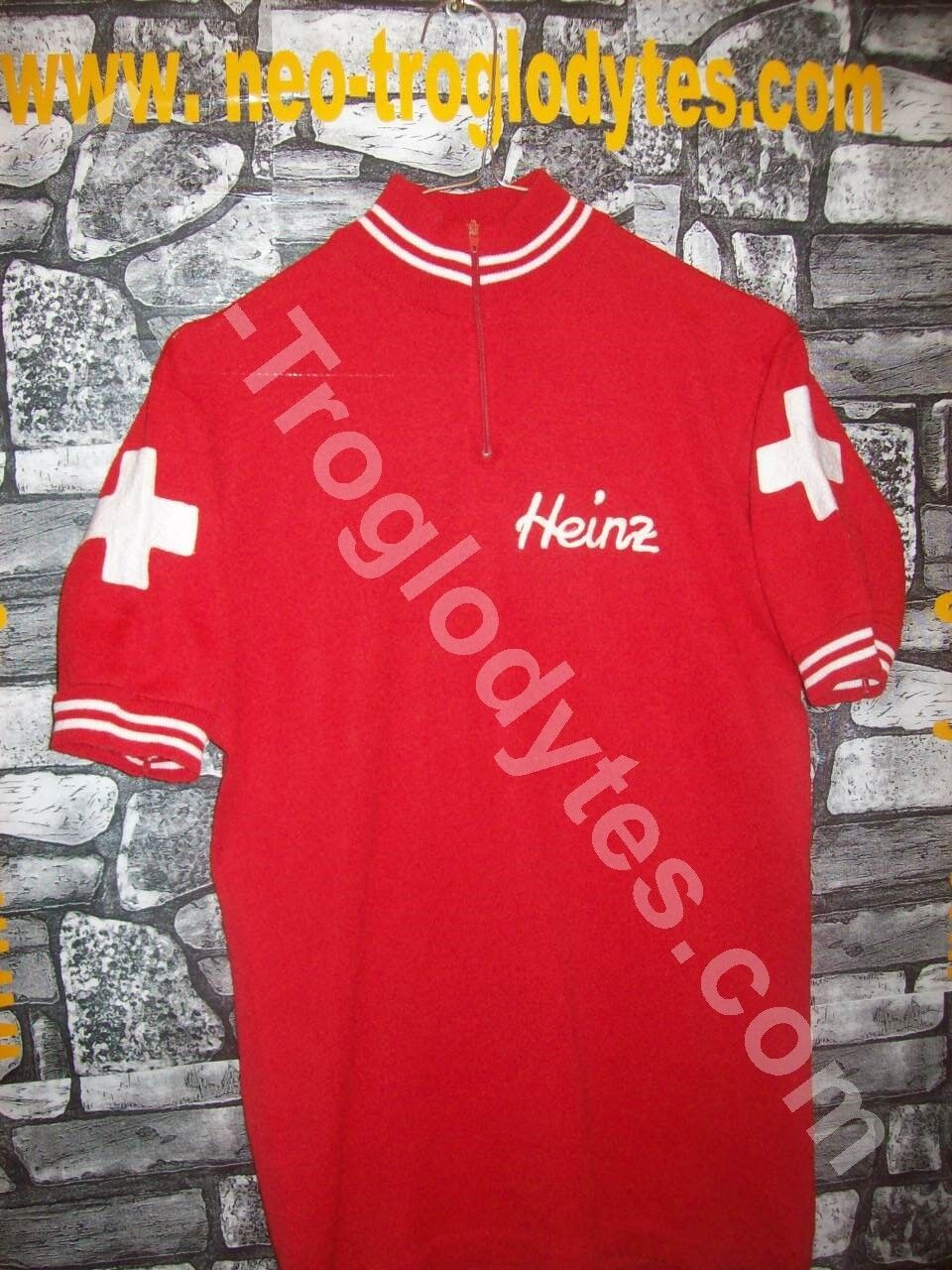 VINTAGE maglia Ciclismo Swiss team '70s cycling jersey bici eroica