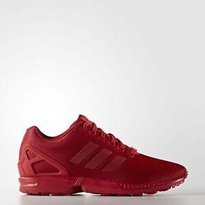 low priced ec916 bb4d5 adidas-Originals-ZX-FLUX-Triple-RED-Mens-Running-