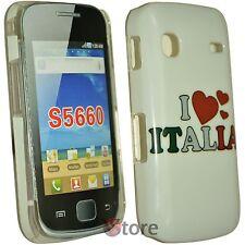 Cover Custodia Per Samsung Galaxy GIO S5660 I Love Italia + Pellicola Display
