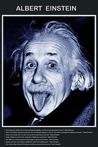 Image of: Thinking Image Is Loading A2laminatedalberteinsteinfunnytongueoutpeace Ebay A2 Laminated Albert Einstein Funny Tongue Out Peace Quotes