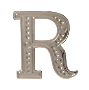 Letter R Nickel-Plated Orange Order Collarette Character