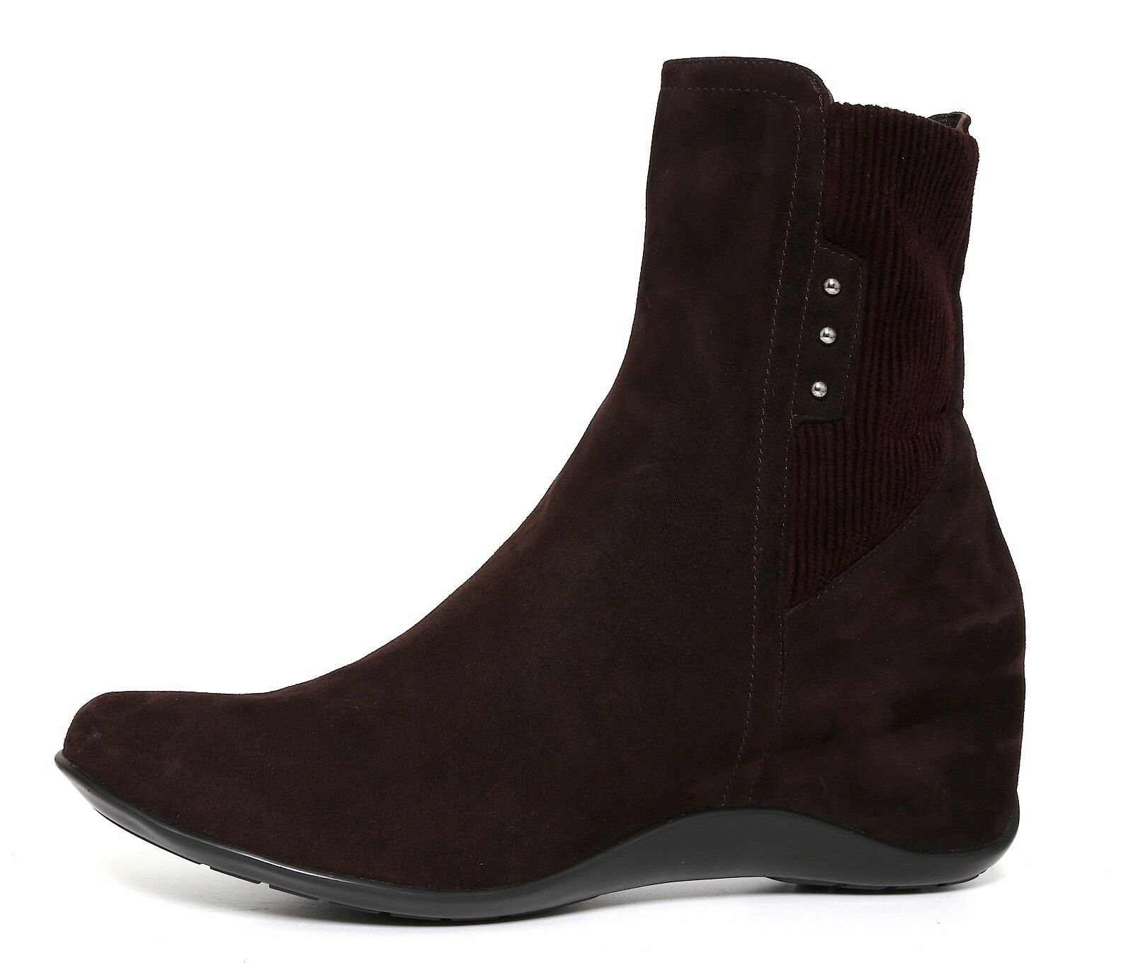 Aquatalia By Marvin K. Versus Suede Wedge Ankle Boot Brown Women Sz 10 5191