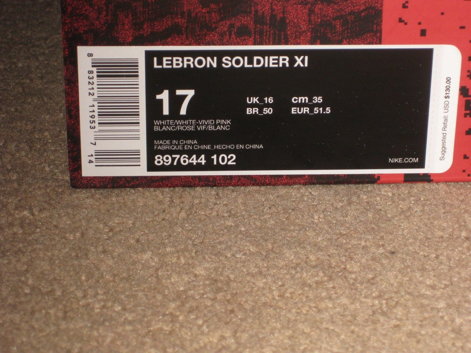 a1bdf80612750 Nike Lebron Soldier XI Shoes Mens Sz 17 897644 102 Lebron James RARE Size  for sale online