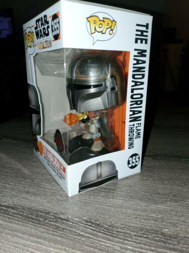 Pop Star Wars Figure Star Wars The Mandalorian Flame Throwing #355 Excl
