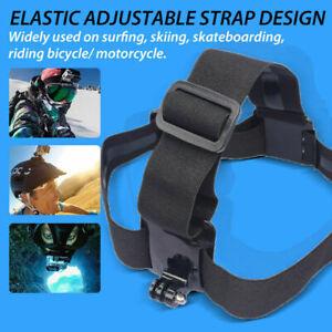HEAD-Strap-Mount-Cinghia-Elastica-Cerchietto-per-GoPro-Hero-2-3-3-4-5-6-7-Telecamera-HD