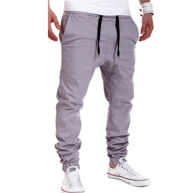 Mens Trousers Sweatpants Harem Pants Slacks Casual Jogger Sportwear Baggy