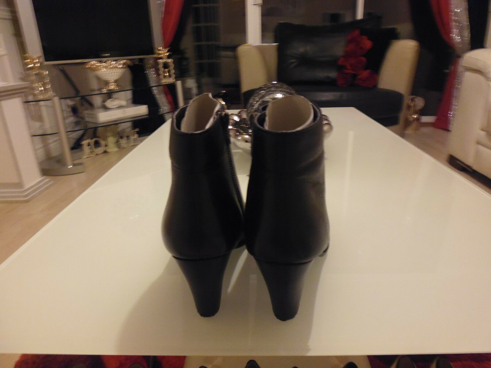 Stunning Lotus Ladies BlackLeather BlackLeather BlackLeather  & Patent Boots Size 8. 73e082