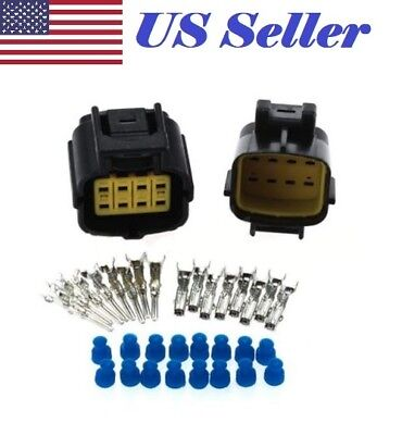 8 Pin Way Waterproof Wire Connector Plug Auto Sealed Electrical Set Waterproof Wire Connector Plugs on