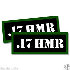 """17 HMR Ammo Can 2x Labels for Ammunition Case 3"""" x 1.15"""" stickers decals 2pack"""