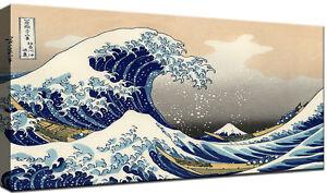 Quadro su vetro arte moderno oceano onda sole su gf