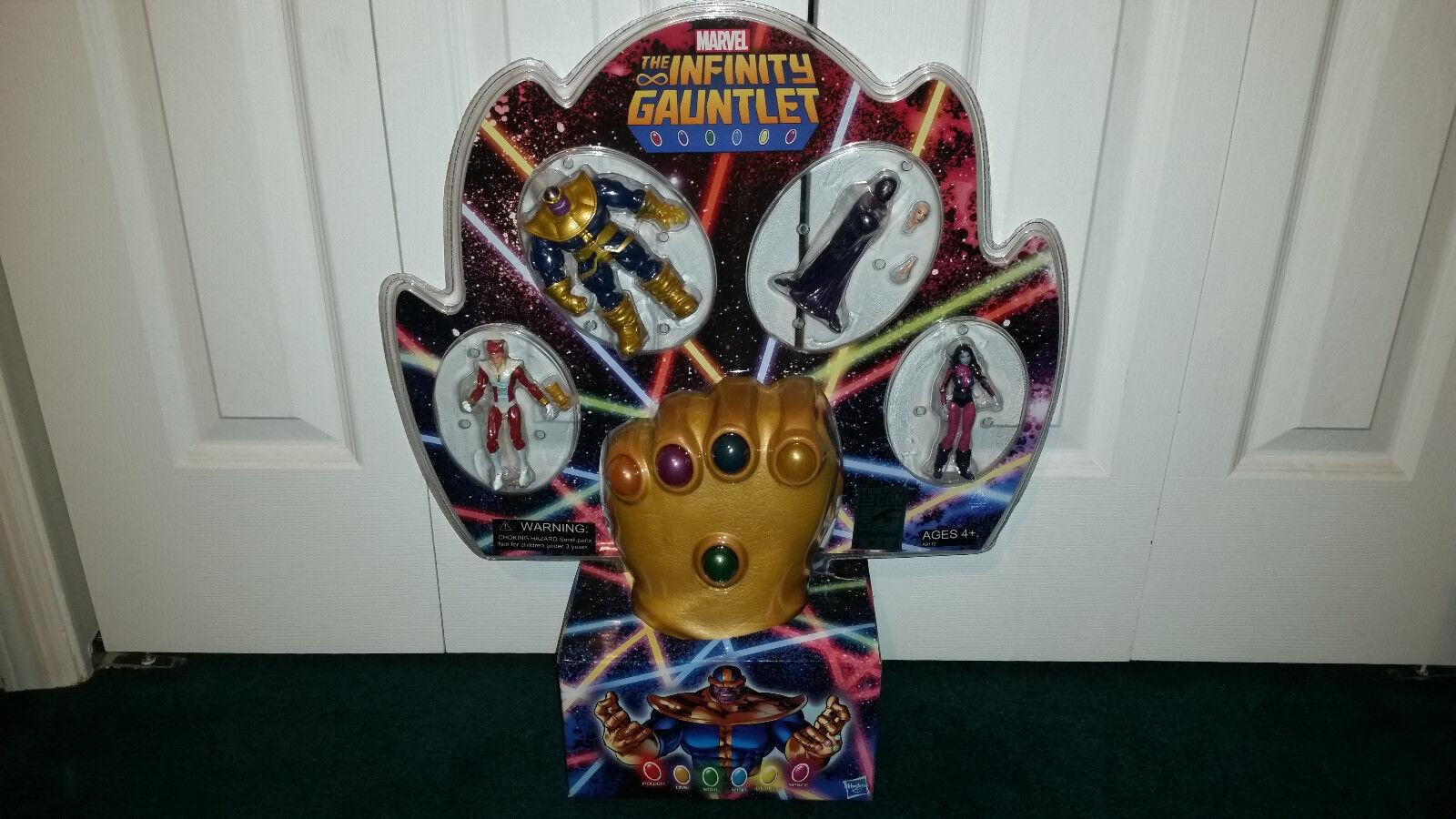 El Guantelete Del Infinito Sdcc Marvel Universe Hasbro Thanos Estrellafox Nebula + PSIM