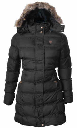 New Girls Brave Soul Hoplong Bubble Padded Hooded Long Winter Parka Jacket Coat