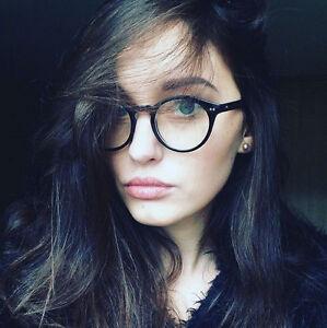 e5436cdb4 Image is loading Vintage-Round-Eyeglasses-Black-Retro-Men-Women-Fashion-