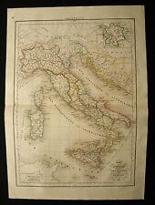 1847cFROM DELAMARCHE ATLAS:ITALIA ANTICA, DELLA SICILIA, SARDEGNA ILLIRIA ,ETNA