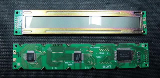 Hitachi Alfanumérica Pantalla LCD Módulo LM038 20x1 5x7 OM0224a puntos caracteres