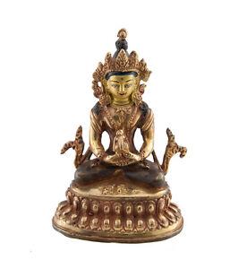 Soprammobile-Tibetano-Budda-Amitabha-Rame-E-Doratura-Nepal-Budda-AFR9-329