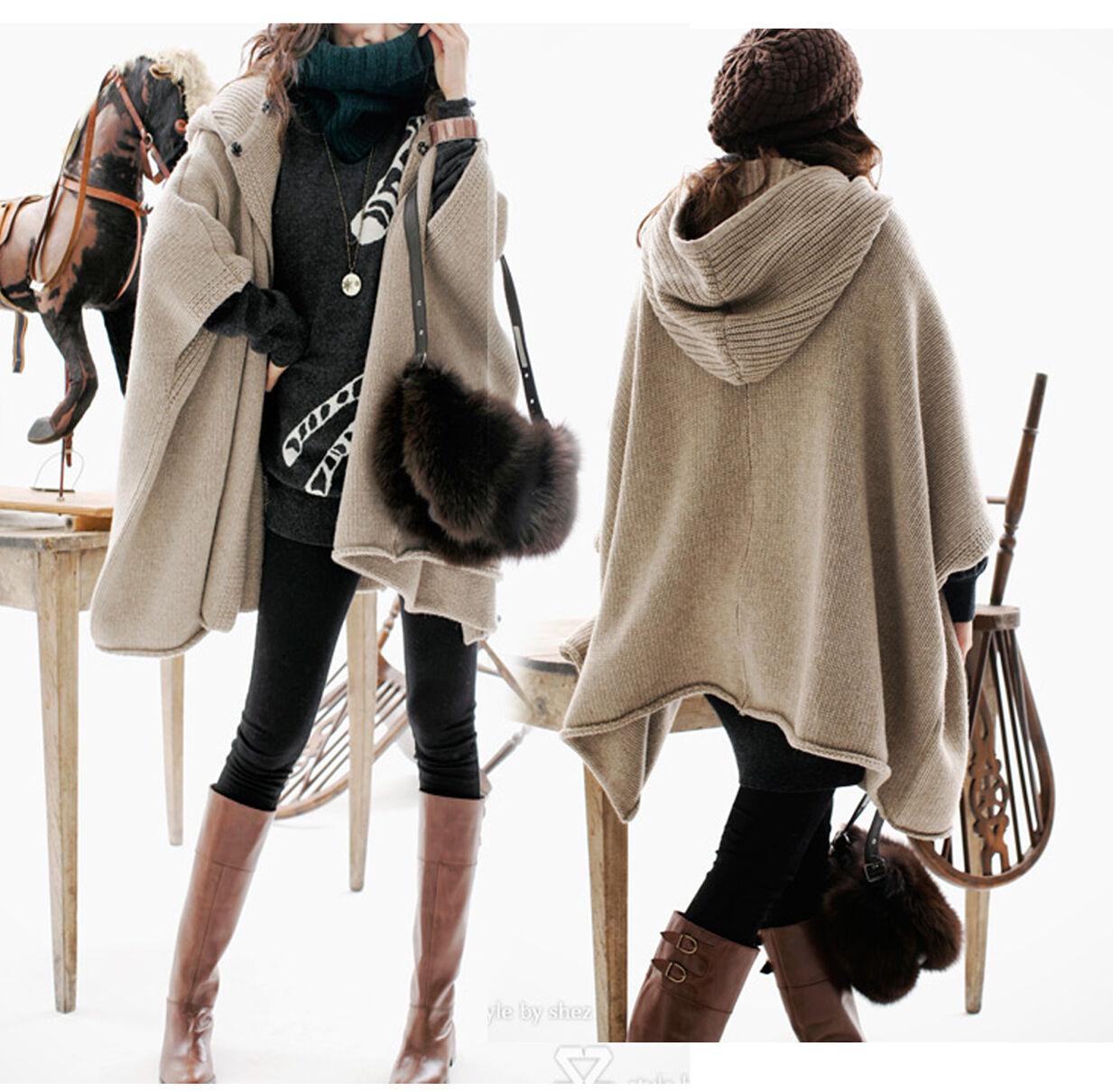Vintage Oversized Poncho cape Hooded  Sweater Cardigan Cardigan Cardigan Navajo Gypsy  Tribal 8345ae