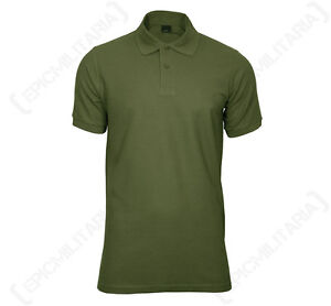 olive green polo shirt