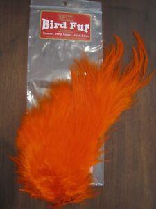 Fly Tying-Whiting Farms Spey Mini Bird Fur Burnt Orange