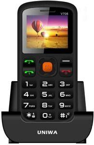 Uniwa v708 Big Button Unlocked Senior Handy Sim Free Handset benutzerfreundlich