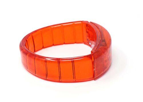 Neu Aufleuchtend Led Armbänder Blink Armband Blinkend Armreif Party Spaß UK