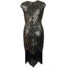 5ad176f8de Womens 1920s Vintage Flapper Dress Sequins Fringeds Weave Cocktail Party  Dress