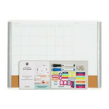 U Brands 3 In 1 Dry Erase Calendar Whiteboard White And Gray 3214u