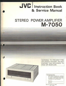 Details about Service Manual JVC M-7050 stereo power amp amplifier Repair  book schematic