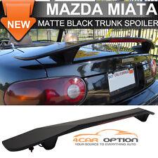 Fit 1990-2005 Mazda Miata Mx5 Matte Black Trunk Spoiler With Brake Light ABS