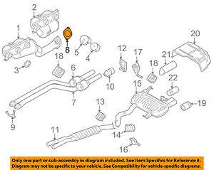 BMW OEM 12-13 128i Exhaust-Manifold Gasket 18107549447