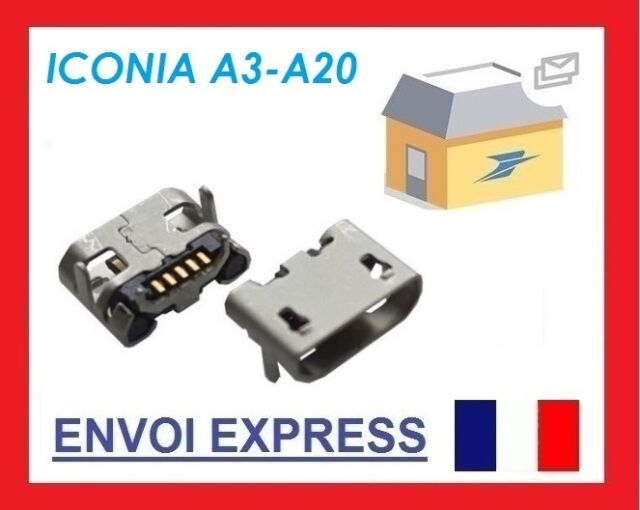 Acer Iconia Tab A3-A20 Micro USB Dc Charging Connector Socket Port Genuine