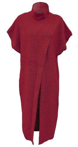 Women Batwings Sleeves Front Split Jumper Ladies Wrap Over Party Wear Midi Dress