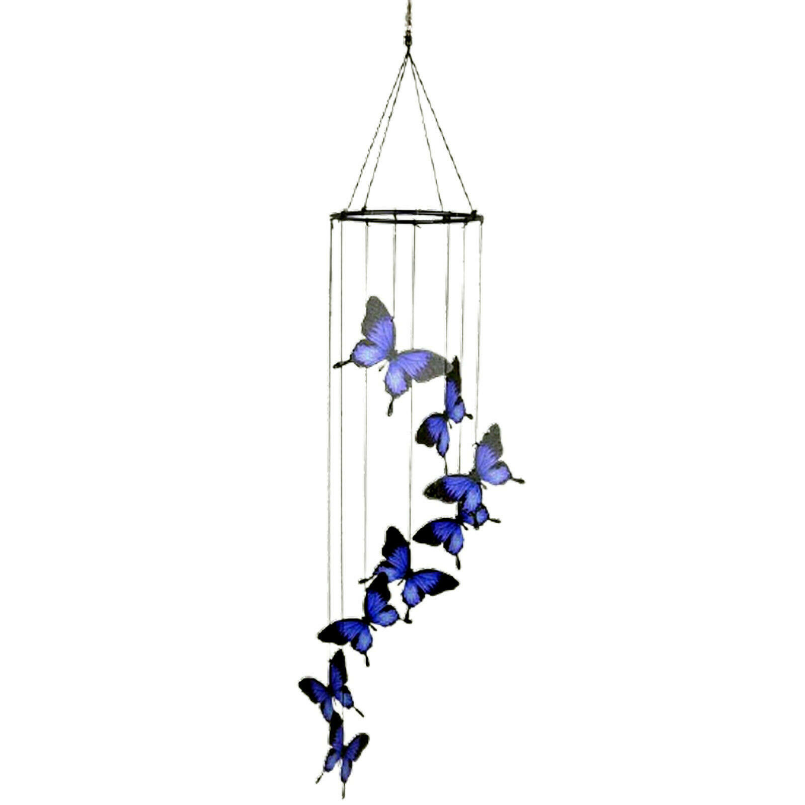 Wind Chimes Ulysses Butterfly Garden Outdoor Hanging Home Natures Melody 8 Piece