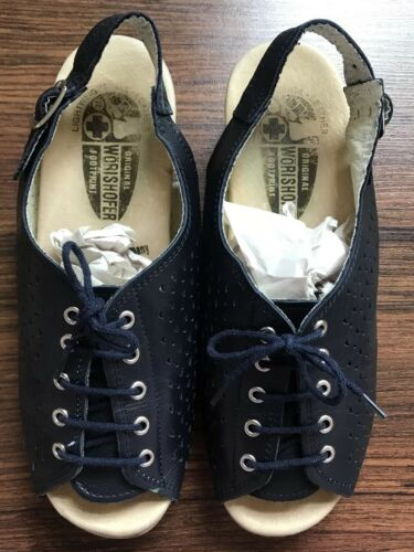 Women's WöRISHOFER Navy Blue Leather Comfort Sling
