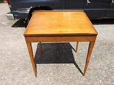 Antique Railroad Banker Drafting Writing desk Mahogany Handmade Dove tails slant