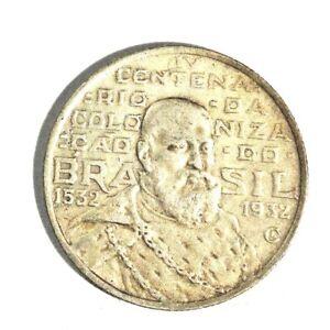 1932 Brazil Silver 2000 Reis