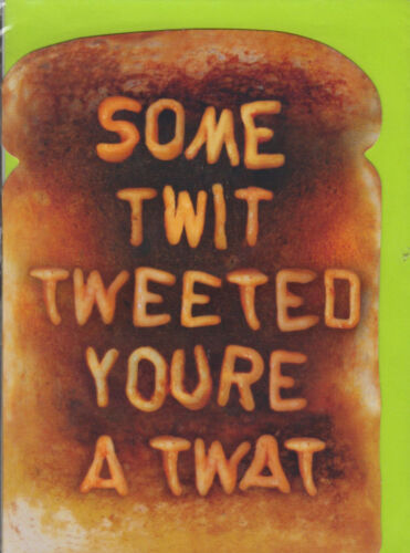 BB ~ FREE P/&P Some Twit Tweeted Youre A twat Funny Humour Birthday Card