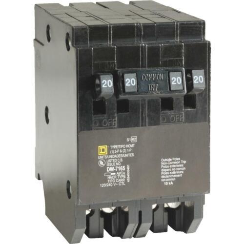 Square D Homeline 20A//20A//20A Double-Pole Standard Trip Quad Tandem Circuit
